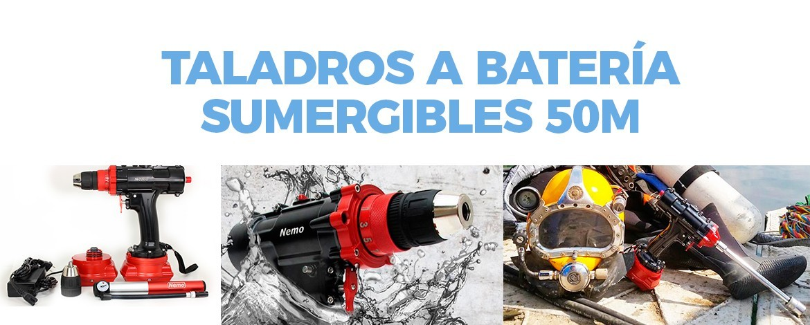 Taladros sumergibles 50m
